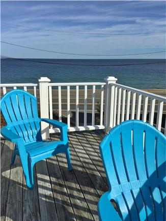 Oak Bluffs, Copeland district. In town by  Martha's Vineyard vacation rental - MBR's large deck has views to Farm Pond & the coastline