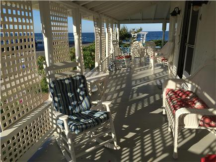 Oak Bluffs, Copeland district. In town by  Martha's Vineyard vacation rental - The porch is the favorite gathering place.