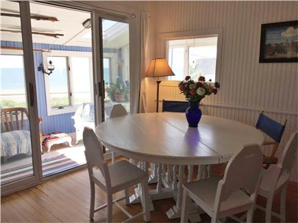 Oak Bluffs, Copeland district. In town by  Martha's Vineyard vacation rental - Dining table seats 6 and looks toward the sea