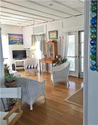 Oak Bluffs, Copeland district. In town by  Martha's Vineyard vacation rental - Living room with good reading lights and 2 sofas, and chairs.