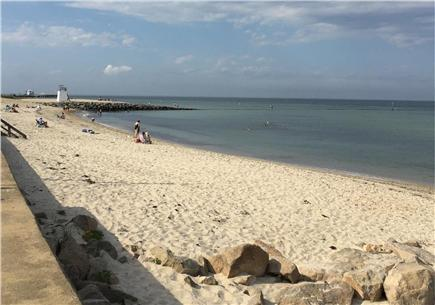 Oak Bluffs, Copeland district. In town by  Martha's Vineyard vacation rental - Beach is 100 ft. From house. Notice ferry, & lifeguard stand.