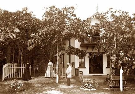 Oak Bluffs Martha's Vineyard vacation rental - Elleman cottage circa 1867(this is our cottage 154 years ago!)