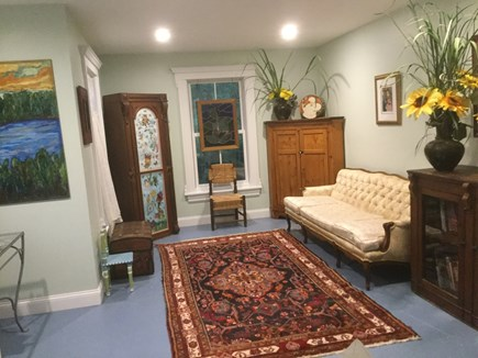 West Tisbury Martha's Vineyard vacation rental - Downstairs Office/Library/Playroom