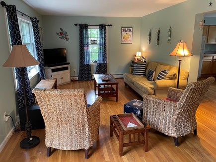 Edgartown Martha's Vineyard vacation rental - Large Family Room with TV, games, and music.