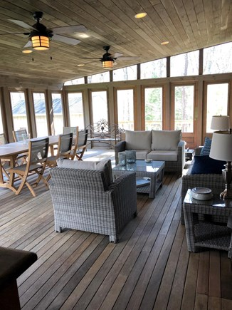 Edgartown Martha's Vineyard vacation rental - Approx. 600 sq. ft. screened porch with brand new furniture.