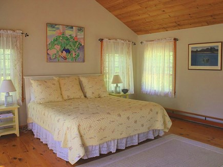 Chilmark Martha's Vineyard vacation rental - King MBR, has a wall of waterview windows overlooking entire yard
