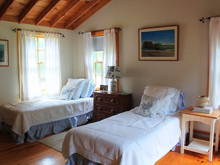Chilmark Martha's Vineyard vacation rental - Spacious two-twin BR also has a door to the side yard.