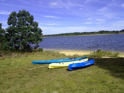 Chilmark Martha's Vineyard vacation rental - Your 3 kayaks and waterfront heaven at the foot of your yard.