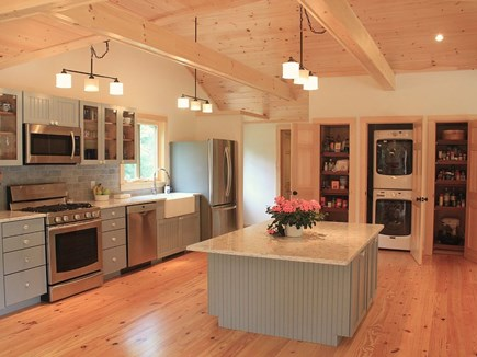 Chilmark Martha's Vineyard vacation rental - Fully-equipped gourmet kitchen: 8x5 island, laundry and pantries.