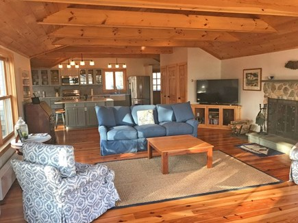 Chilmark Martha's Vineyard vacation rental - HDTV, internet, DVD, Alexa-all four chairs swivel to view water.