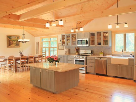 Chilmark Martha's Vineyard vacation rental - The kitchen and DR area. A perfect gathering and dining layout