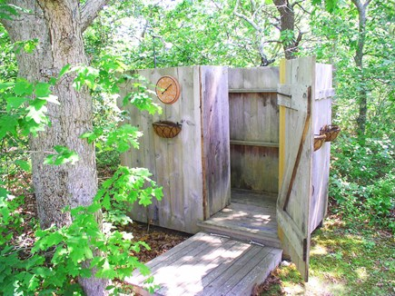 Chilmark Martha's Vineyard vacation rental - Oversize outdoor shower has an enclosed changing section