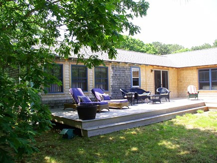 Chilmark Martha's Vineyard vacation rental - The waterview deck also overlooks the extensive yard.