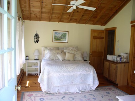 Chilmark Martha's Vineyard vacation rental - Waterview Queen BR; all 3 BRs have cathedral ceilings, fans, A/C