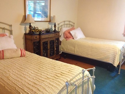 Oak Bluffs, East Chop Martha's Vineyard vacation rental - First floor twin bedroom, (includes sleep sofa).