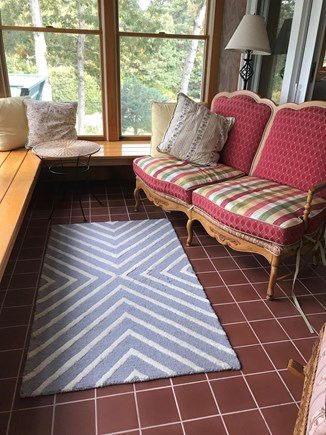 Oak Bluffs, East Chop Martha's Vineyard vacation rental - Serene waterview sunroom off master bedroom; lovely private spot