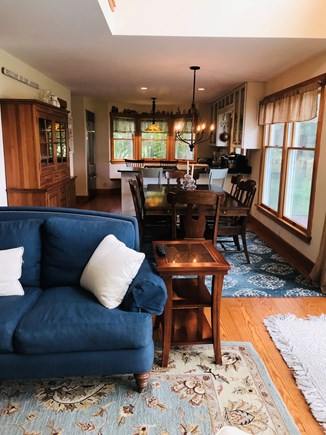 Oak Bluffs, East Chop Martha's Vineyard vacation rental - Open kitchen/dining/living area on first floor....all waterview!