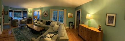 Oak Bluffs, East Chop Martha's Vineyard vacation rental - Look at the Family Room with large sectional couch, games, and TV