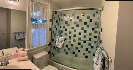 Oak Bluffs, East Chop Martha's Vineyard vacation rental - Panoramic View of the Guest House Bathroom