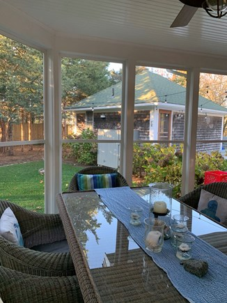 Oak Bluffs, East Chop Martha's Vineyard vacation rental - Screened in porch, with eating area and guest house behind