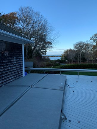 Oak Bluffs, East Chop Martha's Vineyard vacation rental - Look at heated pool/ hot tub with guest house on the left