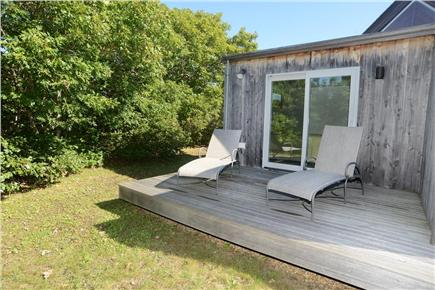 Chilmark Martha's Vineyard vacation rental - Private deck off of the guest quarters wing