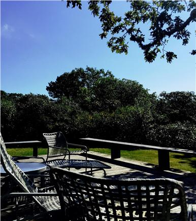 Chilmark Martha's Vineyard vacation rental - Enjoy your the sound of the surf from the deck