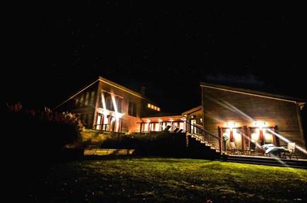 Oak Bluffs Martha's Vineyard vacation rental - Evening shot pool deck and Suite 2 deck