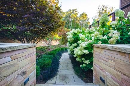 Oak Bluffs, Barnes Road Martha's Vineyard vacation rental - Path to back deck from driveway