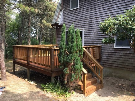 Katama - Edgartown Martha's Vineyard vacation rental - Enjoy dinner or drinks on the back deck