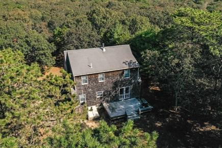 Edgartown Martha's Vineyard vacation rental - Aerial view of back