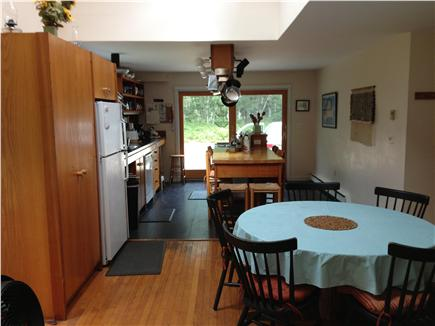 West Tisbury Martha's Vineyard vacation rental - Dining area with kitchen beyond