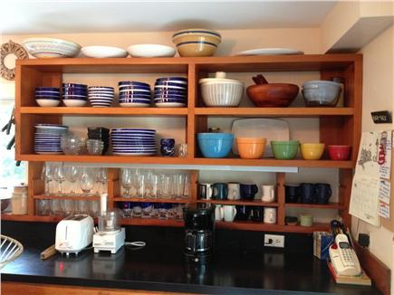 West Tisbury Martha's Vineyard vacation rental - Kitchen shelves