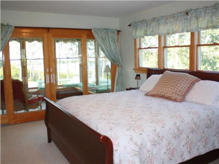 Oak Bluffs Martha's Vineyard vacation rental - Master bedroom with views and sun porch