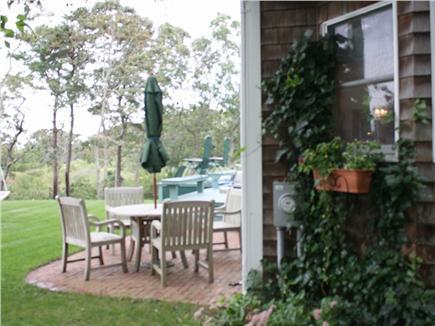 Oak Bluffs Martha's Vineyard vacation rental - Side yard with patio furniture