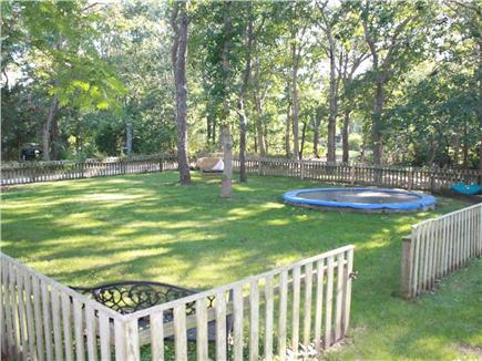 Oak Bluffs Martha's Vineyard vacation rental - Side yard with trampoline