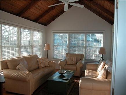 Edgartown Martha's Vineyard vacation rental - Family room opens to the dining area and to the deck
