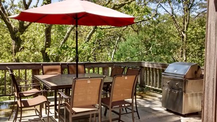 Oak Bluffs Martha's Vineyard vacation rental - Upstairs Patio with Lynx Grill