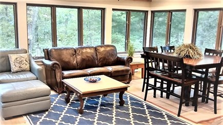 Oak Bluffs Martha's Vineyard vacation rental - Downstairs Sunroom with Walk-out Patio