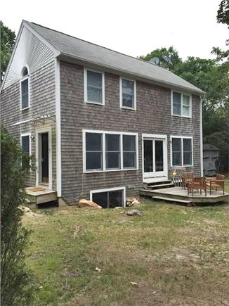 Oak Bluffs Martha's Vineyard vacation rental - Open back  yard with charcoal grill