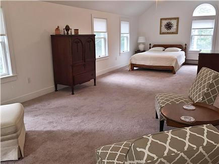 Oak Bluffs Martha's Vineyard vacation rental - Large master bedroom upstairs with AC unit and sitting area