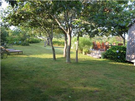 West Tisbury Martha's Vineyard vacation rental - Back yard and deck