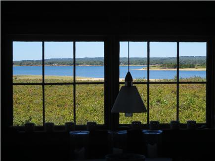 West Tisbury Martha's Vineyard vacation rental - Dining room window looking west