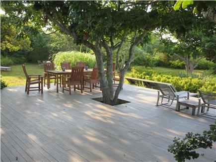 West Tisbury Martha's Vineyard vacation rental - Deck, yard