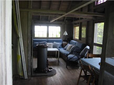 West Tisbury Martha's Vineyard vacation rental - Dining room into living room