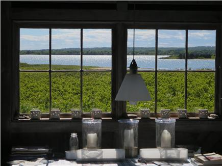 West Tisbury Martha's Vineyard vacation rental - View out dining room windows