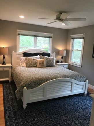 Edgartown Martha's Vineyard vacation rental - Master bedroom with new floor, furniture and king sized bed