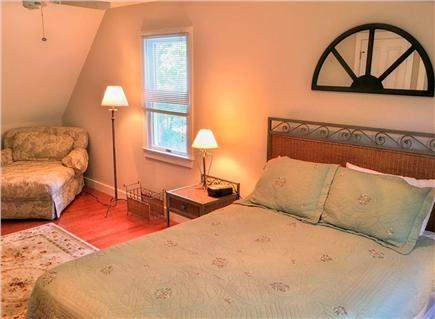 Edgartown Martha's Vineyard vacation rental - 2nd floor queen bedroom with lounge chair