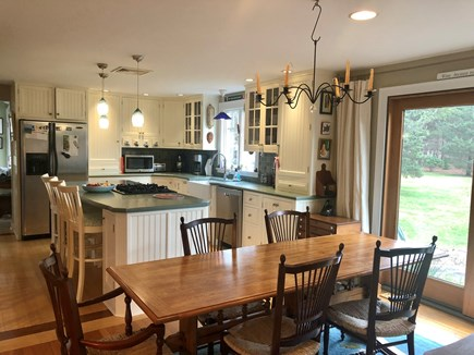 Katama - Edgartown, Edgartown- 1 miles to town  Martha's Vineyard vacation rental - Dining room with seating for 8 opens to patio with dining for 8