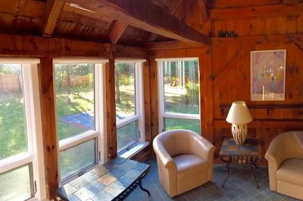 Katama - Edgartown, Edgartown Martha's Vineyard vacation rental - A quiet sitting area: coffee in the morning catching the sunlight
